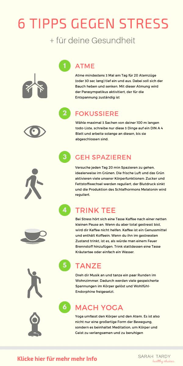 6 Tipps gegen Stress